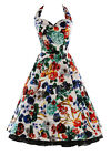 UK Fast Exquisite Flower Print Cocktail Short Evening Prom Party Dress JS Summer
