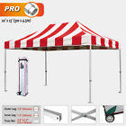 Eurmax Pro Striped 3m x 4.5m Pop Up Tent Instant Shelter Folding  Quick Gazebo