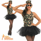 Army Girl Commando Costume Tutu Soldier Ladies Womens Fancy Dress Outfit UK 8-26