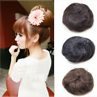 Girl Pony Tail Scrunchie Hair Bun Bud Headdress Hairpiece Extensions Cover Gift