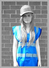 BLUE BLANK HIGH VISIBILITY REFLECTIVE HI VIZ VEST WAISTCOAT FROM ONLY £3.99