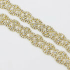 Stunning Flower Clear Rhinestone Trim Diamante Chain Wedding Dress 1yds