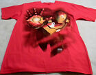 IRON MAN 3 Men's Tees Small And Large Available Red With Iron Man On Front