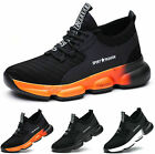 NEW GROUNDWORK BLACK MENS ANKLE SAFETY WORK DEALER BOOTS STEEL TOE CAPS SIZES