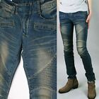 jsa0203 very skinny spandex washed blue denim jeans