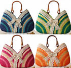 Cute sweet handmade knitted Lace bowknot Boho beach party shoulder bag handbag