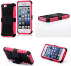 Pink HEAVY DUTY TOUGH SHOCKPROOF WITH STAND HARD CASE COVER FOR iPhone5 5S TZJP
