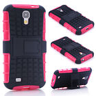 Pink HEAVY DUTY TOUGH SHOCKPROOF STAND CASE COVER FOR Samsung Galaxy S4 TZJP