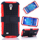 Red HEAVY DUTY TOUGH SHOCKPROOF STAND CASE COVER FOR Samsung Galaxy S4 i9500 TZJ