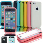 Colorful Heavy Duty Hybrid Rugged Hard Case Cover For iPhone 5C C + Film