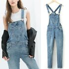Denim Jeans Worn Torn Suspender Dungaree Overalls Pants Trousers Jumpsuit