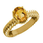 1.15 Ct Oval Yellow Citrine 14K Yellow Gold Ring