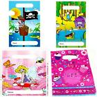 10 to 50 PARTY LOOT BAGS empty children boy girl birthday Pirate Fairy Animals H