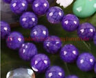 6mm/8mm/10mm Purple Dragon Veins Agate Round Loose Beads 1 Strand