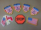 Внешний вид - Pro Guard Ice Hockey Patches Defense, Hat Trick, Shutout, Playmaker, STOP, Flags
