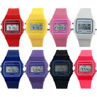 Classic Vintage Digital Retro Silicone Coloured Watch - Alarm - Stopwatch