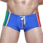 Sexy Men's Pants Bathing NEW Boxer Swimming Trunks Briefs White Blue SIZE S-XL