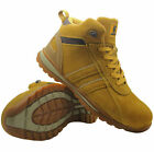 NEW MENS LEATHER SAFETY STEEL TOE CAP BOOTS WORK HIKING TRAINERS SHOES SZ 3-14