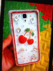 Pretty Girl Bling Crystal Diamond Cherry Clear Hard Case Cover For Samsung YT#2