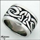 Men's/Women's Ashling Aine Stainless Steel Celtic Knot Wide Band Ring No Stone