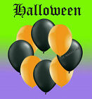 "Halloween Plain Latex 12"" Orange & Black Balloons Various Pack Sizes"