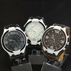 Stylish Men's Watch Round Big Case Type Quartz Battery  Wrist Watch Wristwatch