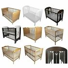 NEW BABY CHILD CLASSIC WOOD COT BED COTBED 120 x 60 / 140 x 70 NURSERY FURNITURE