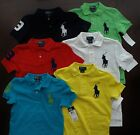 NWT Ralph Lauren Boys S/S Big Pony Solid Mesh Polo Shirts 8 10/12 14/16 NEW $45