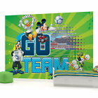 Disney Mickey Mouse and Friends Football Go Team Photo Wallpaper Wall Mural (CN-