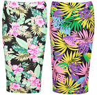 Womens New Floral Printed Ladies Stretch Elastic Pencil Bodycon Long Midi Skirt