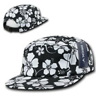 Kyпить DECKY Black & White Floral Hawaiian 5 Panel Cotton Racer Flat Bill Caps Hat на еВаy.соm
