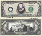 3rd President Jefferson 1801-09 Novelty Bill Notes 1 5 25 50 100 500 or 1000