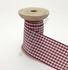 Berisfords Gingham (Small Check) Ribbon - 405 Burgundy CHOOSE WIDTH & LENGTH