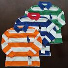 NWT Ralph Lauren Boys LS Striped Big Pony Rugby Shirt SZ 5 6 or 7 NEW $50 5e