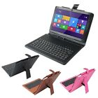 """Luxury Leather Keyboard Case Stand Cover Skin For 10.1"""" Livefan F3C Tablet PC KB"""