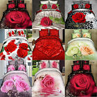 Hot 3D Effect Floral Dreams Bedsheet Rose Flower Bed Romance Sheet set of 4pcs