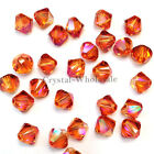 4mm Crystal Astral Pink Genuine Swarovski crystal 5328 / 5301 Loose Bicone Beads