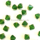 6mm Palace Green Opal (393) Genuine Swarovski crystal 5328 / 5301 Bicone Beads