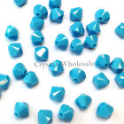 6mm Turquoise (267) Genuine Swarovski crystal 5328 / 5301 Loose Bicone Beads