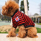 Stripe Pet Puppy Dog Cotton Clothes Clothing Supplies Apparel Costume 4 Colours