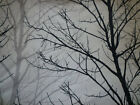Tablecloth Black Grey White Trees  Funky Round Square Retro Cotton Washable