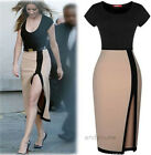 New Sexy Womens Slim Fit Bodycon Bandage Dress Cocktail High-slit Party Evening