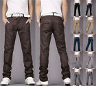New Mens Fashion Casual Long Pants Work Button Trousers Size Colors for You Pick