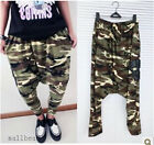 Girl Casual Loose Baggy Crotch Collapse hip Hop Haram Pant Collage Skull Trouser