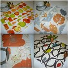Orange Placemats 4 Funky Cotton Fabric Dinner Mats Pre Shrunk Back Washable