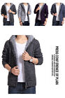 Comfy  Mens Wool Knitted Warm Zip Cardigan Sweater Hooded jacket coat  FOUK