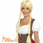 Adult Bavarian Beauty Wig Oktoberfest Long Blonde Plaited Ladies Fancy Dress