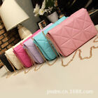 Candy Women Grid Clutch Chain Purse Evening Party Bridal Handbag Cosmetic Bag