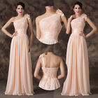 One Shoulder Long Chiffon Gown Cocktail Formal Evening Prom Party Pageant Dress