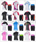 NEW!2014 CHEJI Bicycle Cycling Team Women Sports Outfit Jerseys Top+ Shorts UK